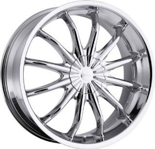 Milanni Baron 18 Chrome Wheel / Rim 5x110 & 5x115 with a 38mm Offset and a 74.1 Hub Bore. Partnumber 450 8968C38 Automotive