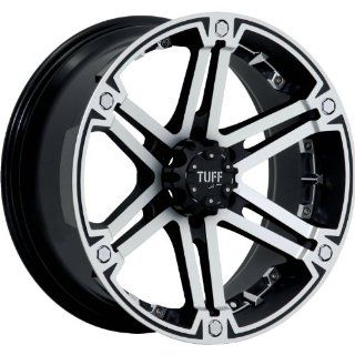 Tuff T01 18 Machined Black Wheel / Rim 6x5.5 with a 10mm Offset and a 106.1 Hub Bore. Partnumber T01HM6M10K106 Automotive