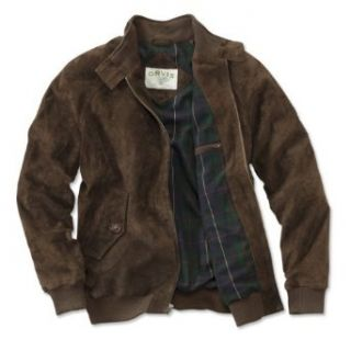 Orvis Men's Suede Bomber Jacket Clothing
