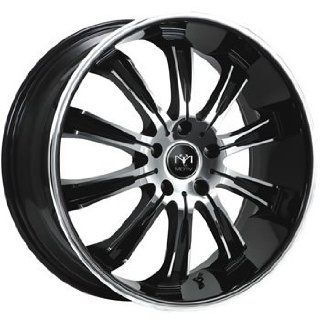 Motiv Maximus 20x8.5 Chrome Black Wheel / Rim 5x120 with a 35mm Offset and a 74.10 Hub Bore. Partnumber 405CB 2851235 Automotive