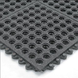 WEARWELL 24/Seven Anti Fatigue Mats and Edging   Black