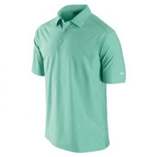 NIKE Men's Debossed Argyle Golf Polo Shirt, Cool Mint/White, Small  Golf Apparel  Sports & Outdoors