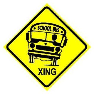 SCHOOL BUS CROSSING transport kid street sign   Decorative Signs