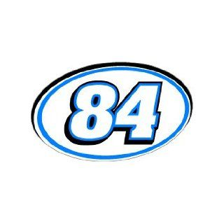 84 Number Jersey Racing   Blue   Window Bumper Sticker Automotive
