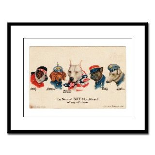 Patriotic Dogs WW1 Pit Bull Terrier Large Framed P by wonderbull