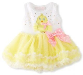 Bonnie Baby Girls Yellow Chick Tutu Dress (2T, Yellow) Clothing