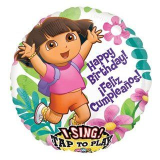 "DORA The Explorer 28"" Happy Birthday Party SINGING Sing A Tune Mylar Balloon Health & Personal Care"