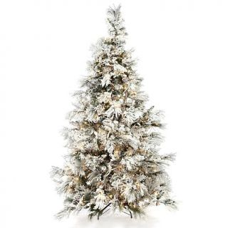 7 1/2 foot Flocked White Artificial Christmas Tree