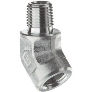 Parker Stainless Steel 316 Pipe Fitting, 45 Degree Street Elbow, NPT Male X NPT Female Industrial Pipe Fittings