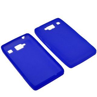 BW Silicone Sleeve Gel Cover Skin Case for Verizon Motorola Droid RAZR MAXX HD XT926M Blue Cell Phones & Accessories