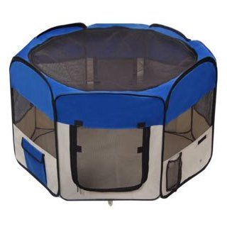 "Best Gift For You Lovely Pet Blue Large 48"" 48 Inch In Octagon Portable Safety Playpen Exercise Training Pet Dog Puppy Pen Cat Secure Room"