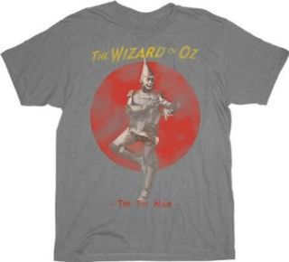 The Wizard of Oz The Tin Man Silver Gray Mens T shirt Tee Clothing