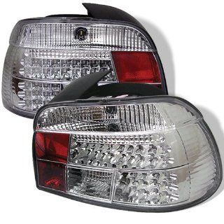 BMW E39 528i 540i M5 5 Series 97 98 99 00 LED Tail Lights + Hi Power White LED Backup Lights   Chrome (Pair) Automotive