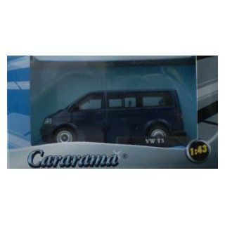 Volkswagen T5 Mini Bus In Dark Blue From Cararama 143 Scale Model Toys & Games