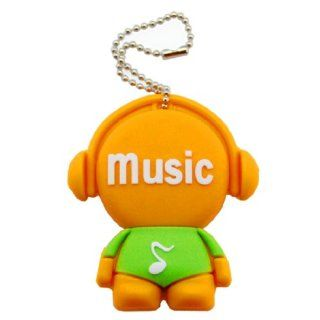 Cartoon Qute High Quality 32gb USB Flash Drive Memory  Orange green Music Men Computers & Accessories