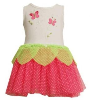 Bonnie Jean Baby Fuchsia Pink Butterfly Flock Tutu Dress 12M Clothing