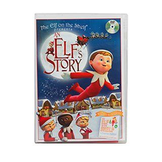 An Elf's Story DVD Cartoon, the young elf, assigned by Santa to restore Taylor's belief in Christmas magic.  When Taylor breaks the number one Elf on the Shelf rule, Chippey loses his Christmas magic; the McTuttle family loses its elf. An Elf'