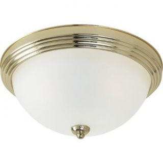 Sea Gull Lighting 79364BLE 02 2 Light Flush Mount Fluorescent Energy Star Ceiling Fixture, Polished Brass