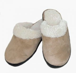 Deluxe Indoor / Outdoor Women's Clog Slippers by Isotoner (Camel XL) Clothing