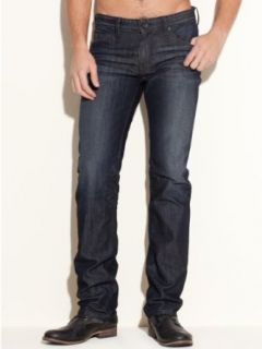 GUESS Men's Lincoln Slim Straight Jeans in CRX wash, 32 Inseam Clothing