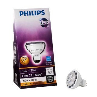 Philips 422212 5.5 Watt (20 Watt) MR16 LED Indoor Flood 12 Volt Light Bulb  Massage Oils  Beauty