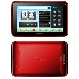 "Visual Land Prestige 7"" Tablet Red (me 107 8gb red)    Tablet Computers  Computers & Accessories"