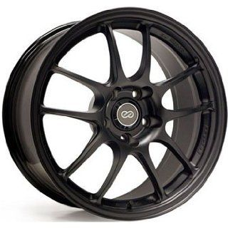 Enkei PF01 17x9 5x114.3 48mm Offset 75mm Bore Diameter Matte Black Wheels   Set of 4 Automotive