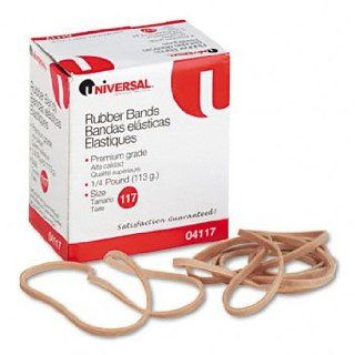 Universal Products   Universal   Rubber Bands, Size 117, 7 x 1/8, 53 Bands/1/4lb Pack   Sold As 1 Pack   General purpose rubber bands for home or office use. Electronics