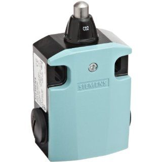 Siemens 3SE5 122 0BC02 International Limit Switch Complete Unit, Rounded Plunger, 56mm Metal Enclosure, High Grade Steel Plunger, 3mm Overtravel, Slow Action Contacts, 1 NO + 1 NC Contacts