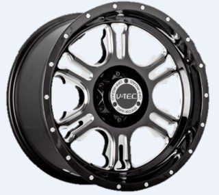 "V TEC Rage 397 Gloss Black Milled Spoke Rear Wheel with Chrome Bolts (18x9""/5x127mm) Automotive"