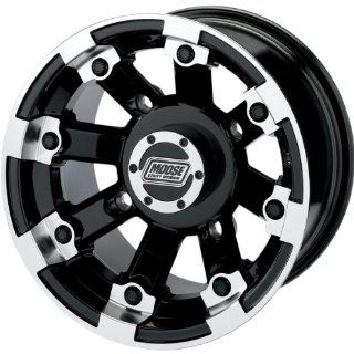 Moose Utility Type 393X Front Wheel   15x7   4+3 Offset   4/136   Black , Position Front, Wheel Rim Size 15x7, Rim Offset 4+3, Bolt Pattern 4/136, Color Black 393MO157136BW4 Automotive