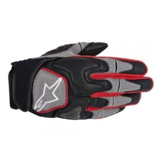 Alpinestars Scheme Kevlar Textile Gloves , Gender Mens/Unisex, Primary Color Black, Distinct Name Black/Gray/Red, Size Sm, Apparel Material Textile 3502612 131 S Automotive