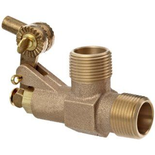 "Robert Manufacturing RC810 CASA Series Bob Red Brass Float Valve with Compound Operating Lever, 1"" NPT Male Inlet x Free Flow Outlet, 138 gpm at 85 psi Pressure"