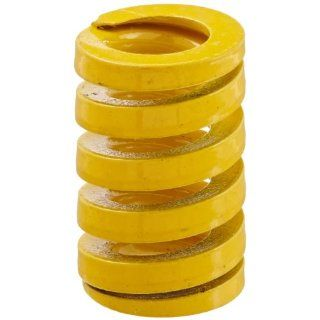 "Die Spring, Extra Heavy Duty, Closed & Ground Ends, Yellow, 16"" Hole Diameter, 8.5"" Rod Diameter, 25"" Free Length, 136.2lbs Spring Rate (Pack of 10) Compression Springs"