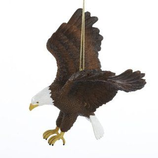 Kurt Adler 4 Inch Resin American Bald Eagle Ornament   Decorative Hanging Ornaments