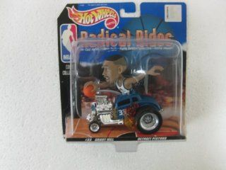 NBA Radical Rides Court Collection #33 Grant Hill Detroit Pistons In His Souped Up 143 Scale Diecast Hot Rod From Hot Wheels 1998 Toys & Games