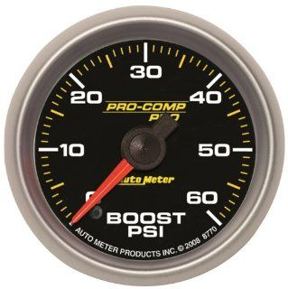 "Auto Meter 8770 Pro Comp Pro 2 1/16"" 0 60 PSI Full Sweep Electric Boost Gauge Automotive"