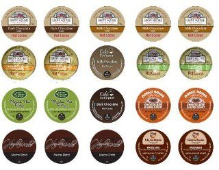 Crazy Cups Chocolate Lovers Coffee and Cocoa Gift Sampler, Single cup pack sampler for Keurig K Cup Brewers (Pack of 20), Garden, Lawn, Maintenance  Lawn And Garden Chippers  Patio, Lawn & Garden