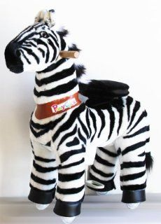 Ponycycle Pony Cycle Ride On Horse No Need Battery No Electric Just Walking Horse MAGNIFICENT ZEBRA   Size SMALL for 2 to 5 Years Old Toys & Games