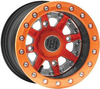 Hiper Wheel Sidewinder 2 Wheels   14x10   5+5 Offset   4/156   Orange , Position Front/Rear, Wheel Rim Size 14x10, Rim Offset 5+5, Bolt Pattern 4/156, Color Orange 1410 POLOR 55 DBL OR Automotive