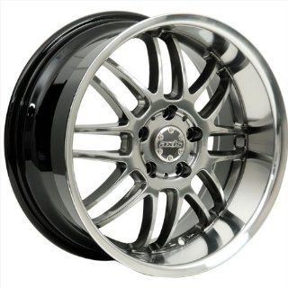 17x8 Axis Apex (Hyper Black w/ Machine Polished Lip) Wheels/Rims 5x114.3 (APX7805HF38HB) Automotive