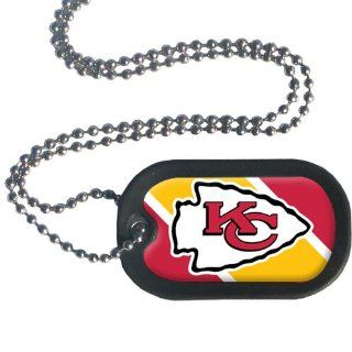 NFL Kansas City Chiefs Dog Tag Necklace Sports & Outdoors