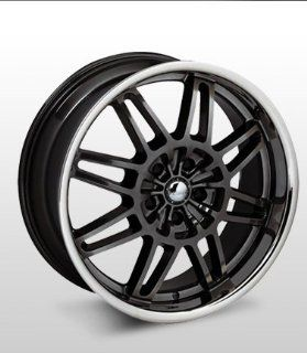 "19x8 Forte F18 ""Smoke"" (Black w/ Chrome Lip) Wheels/Rims 5x114.3 (F18 98066HST) Automotive"