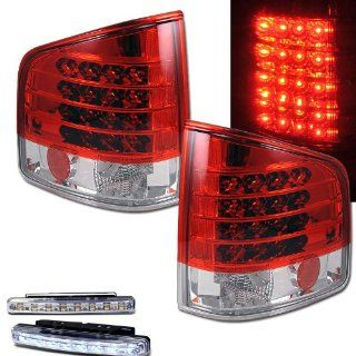 1982 1993 CHEVY S 10 S10 REAR BRAKE TAIL LIGHTS RED/CLEAR+LED BUMPER RUNNING Automotive