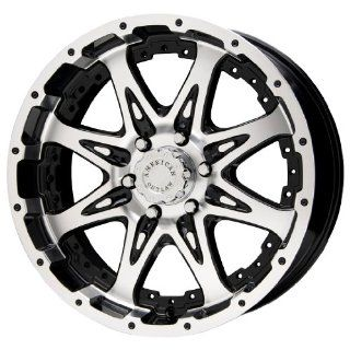 "American Outlaw Buckshot Series Black Wheel with Machined Face (16x8""/8x165.1mm) Automotive"