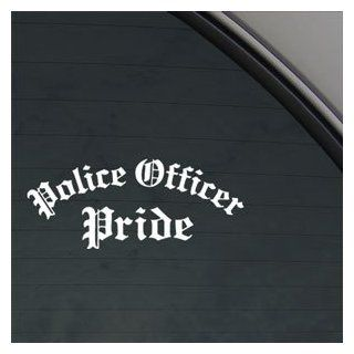 Police Officer Pride Decal Car Truck Window Sticker Automotive
