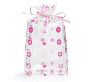 (10) Pink Dots Cello Birthday Party Baby Shower Favor Gift Bag 7x3x2 Health & Personal Care