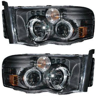 DODGE RAM 02 05 PROJECTOR HEADLIGHT G2 W/O CCFL BAR HALO BLACK CLEAR AMBER NEW Automotive