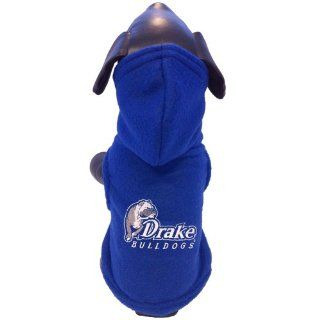 NCAA Drake Bulldogs Polar Fleece Hooded Dog Jacket, XX Small  Sports Fan Pet Dresses  Sports & Outdoors