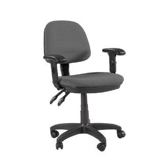 Offex Feng Shui Desk Height Adjustable Multi Functional Ergonomic Home / Office Chair with arms and casters in Gray   Home Office Furniture